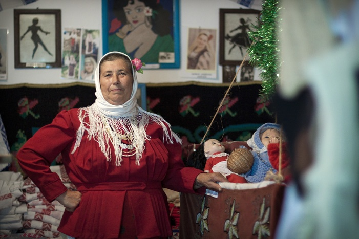 Paraschiva Constantin, 63, lives in Visina (South of Tulcea ), where she has turned her house  into a museum for traditional and old objects    The Danube Delta has a population of around 126000 people.     http://www.bogdangreavu.com/