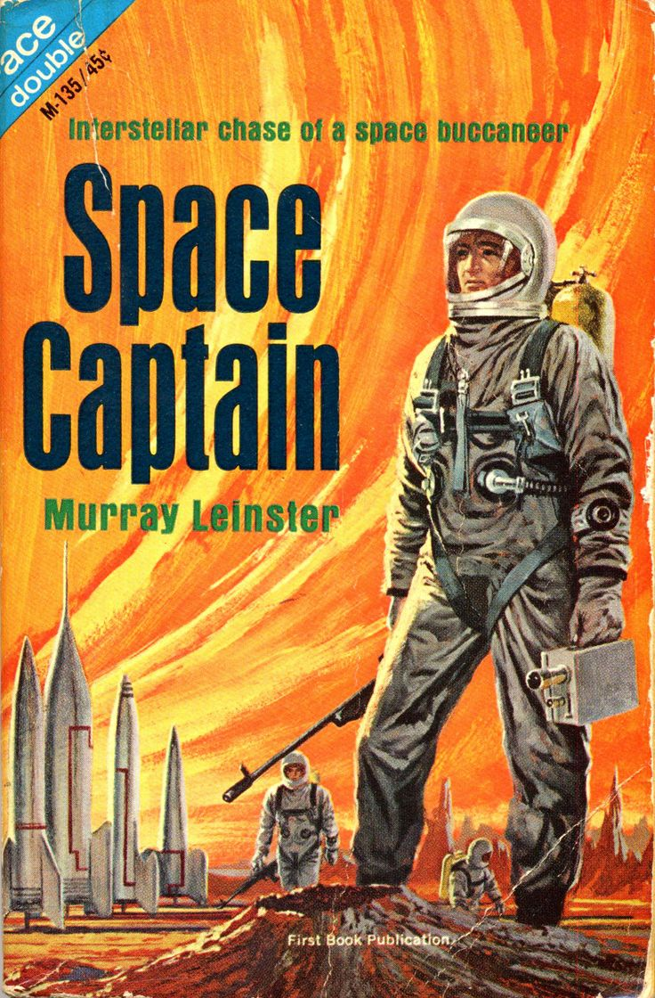 Ace Double M-135: Space Captain by Murray Leinster, 1966. Cover attributed to Gray Morrow.