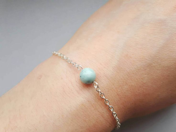 Excited to share the latest addition to my #etsy shop: Dainty silver bracelet, stocking filler, gemstone bracelet, birthstone bracelet, delicate bracelet, minimalist bracelet, simple bracelet #jewellery #bracelet #silver #birthday #women #yes #minimalist