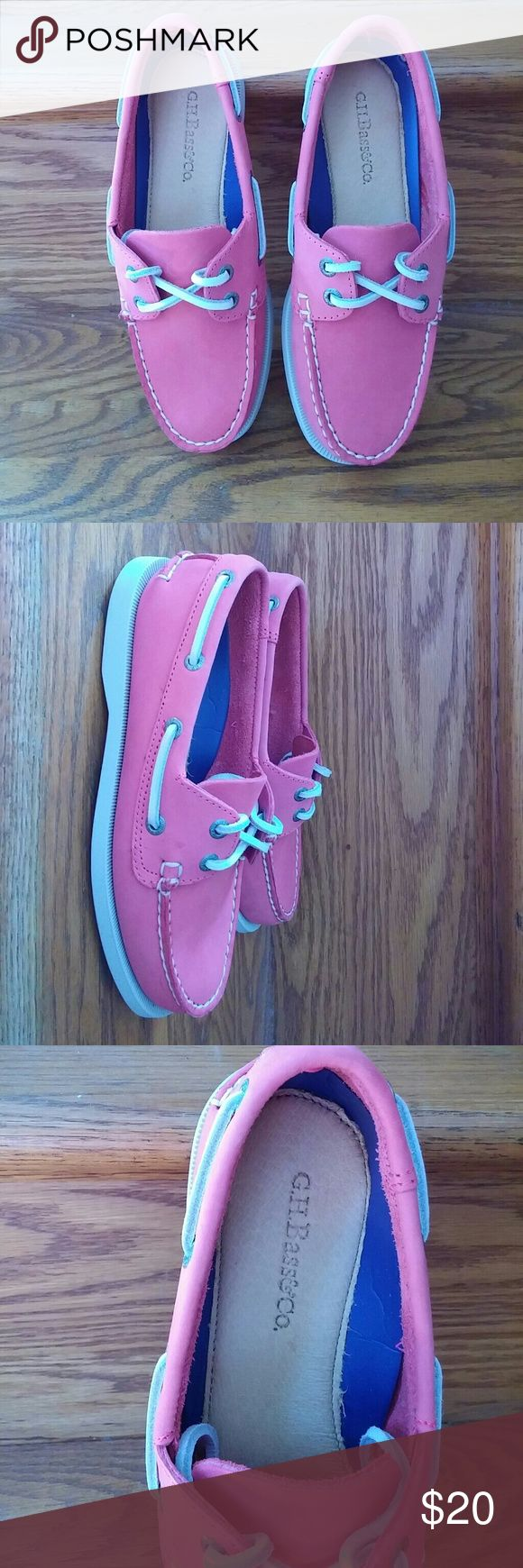 NIB pink leather boat shoes Never worn gorgeous boat shoes. They are super comfortable and a great color. Shoes
