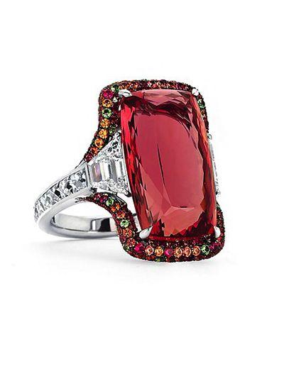Beautiful 18.0 carat Imperial Topaz Ring by Martin Katz