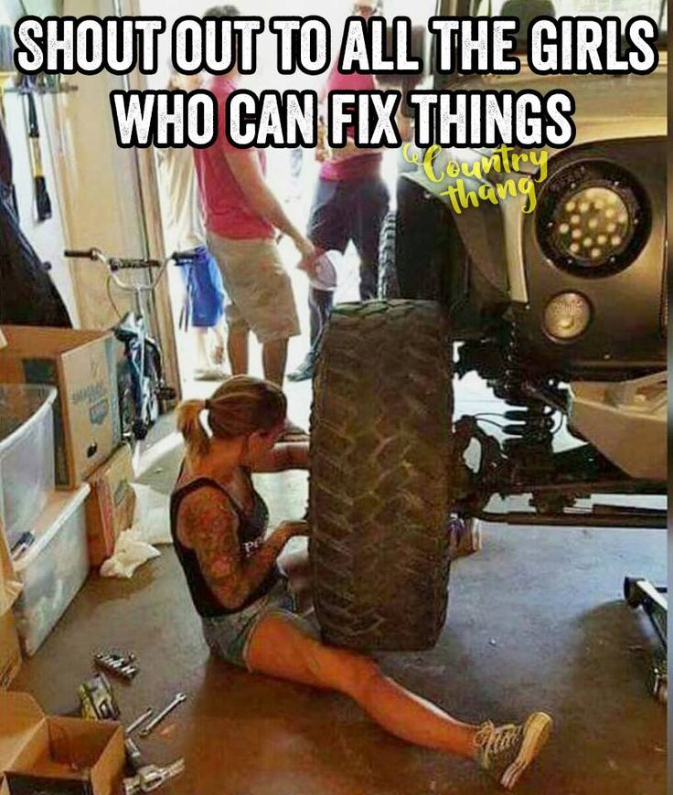 Shout to all the girls who can fix things. #countrygirl #cowgirl #lifefactquotes…