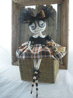 Primitive folk art doll Halloween