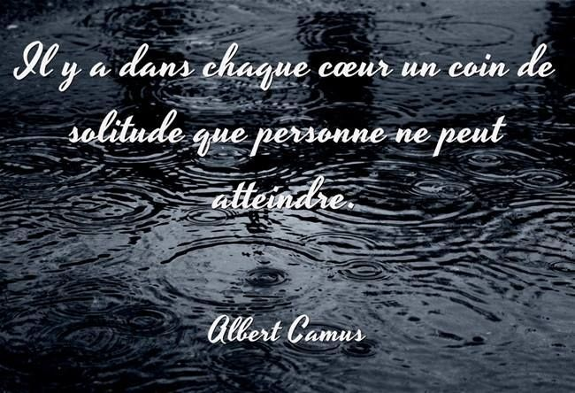 Coin de solitude - Albert Camus
