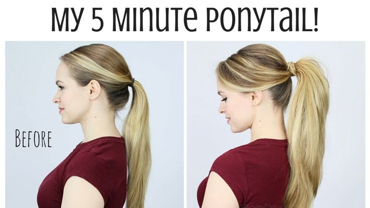 PROFESSIONAL PUMPED UP PONYTAIL in 5MINS! #HowTo #Hair #UpDo