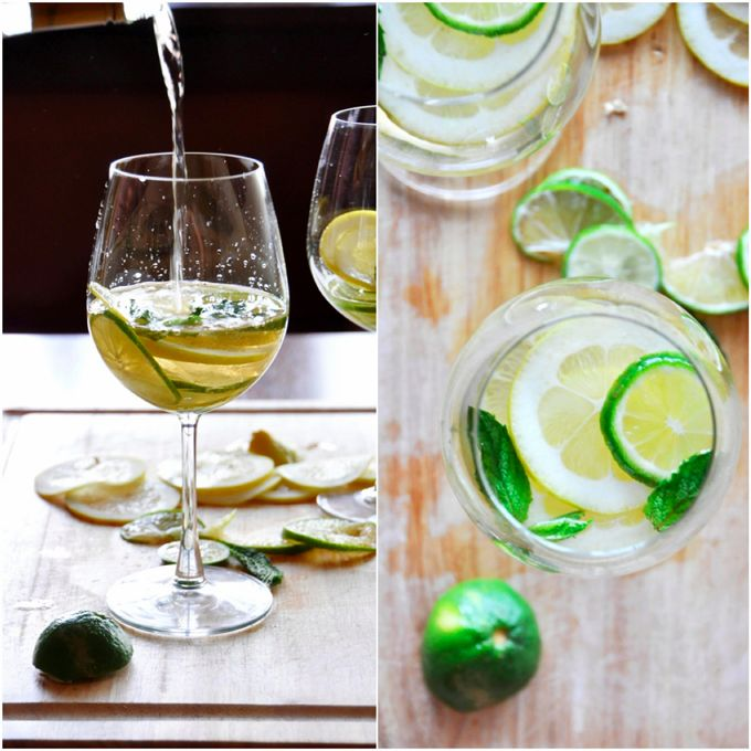 5 INGREDIENT Mint Citrus White Wine Sangria!