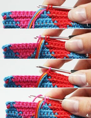 Aprende a tejer en técnica Tapestry a crochet / tutorial | Crochet y Dos agujas