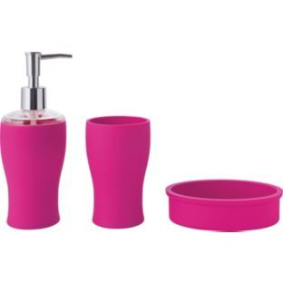 100 best colour fierce fuchsia images on pinterest for Matching bathroom accessories sets