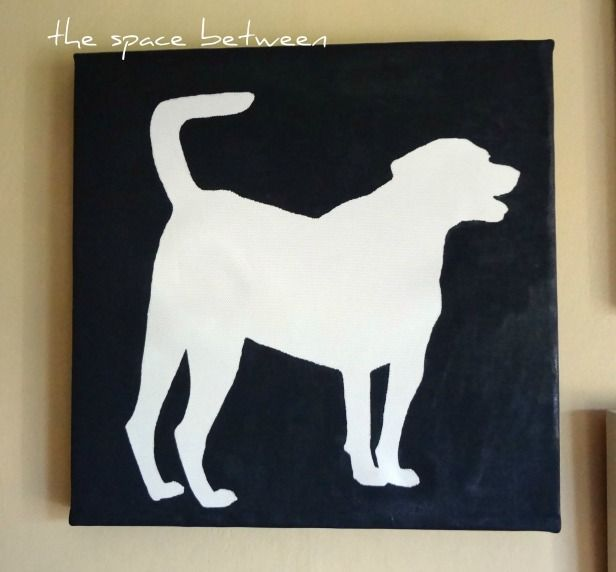 easy canvas silhouette art