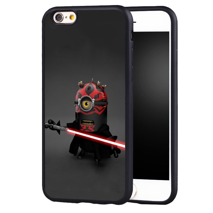 Minion Star Wars Darth vader Phone Cases For iPhone 6 6S Plus 7 7Plus 5 5S 5C SE original protect edge Back Cover Shell #Affiliate