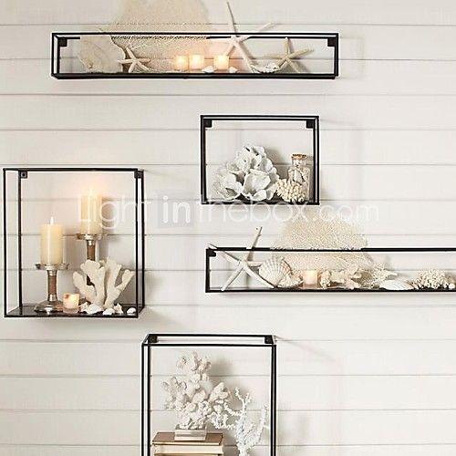 e-Home® metall vägg konst väggdekor, rektangulära väggdekor uppsättning av 5 - SEK kr1,123