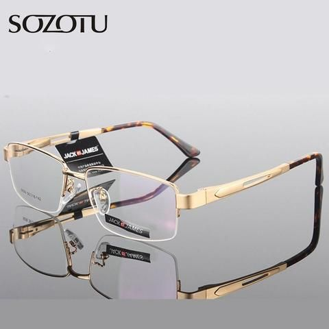 77f9a6c5ec3 Aluminum Magnesium Optical Eyeglasses Frame Men Computer Glasses Spectacle  Frame For Malemodlilj