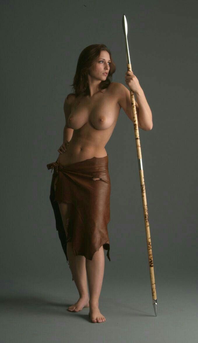 Female warrior nude oral