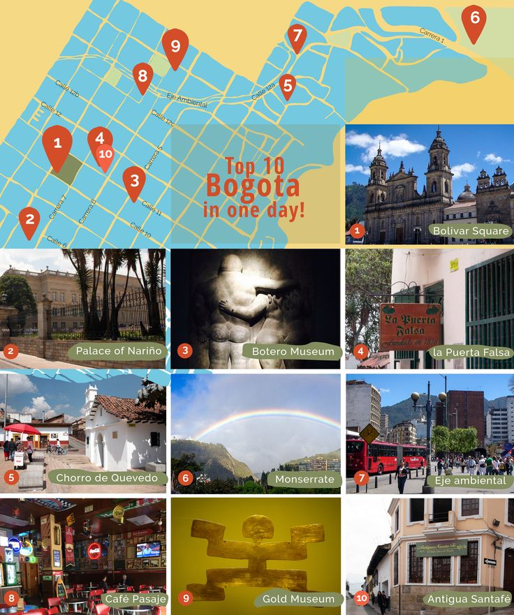 Discover the most beautiful places in #Bogota and visit the capital city of #Colombia in one day!