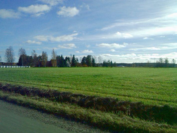 Rinding my bike in a shinny day on Kauhajoki, very nice feeling...
