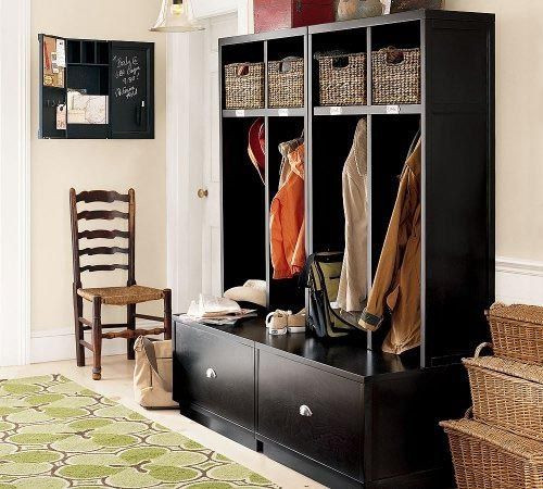 High Quality Locker  Unit  And Drawer Bench Brady Open  Entryway  Suite Pottery . Locker   Unit  And Drawer Bench  Entryway Storage Photos