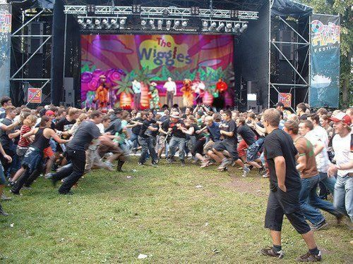 Mosh pit at a Wiggles concert