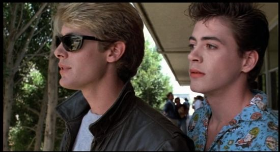 "James Spader & RDJ in a universe far far away (""Less than Zero""  1987)  wow SOME of those 80s Brat Packers had some amazing talent ..."