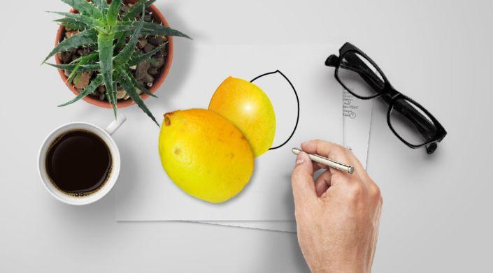 Lemon : Photo, Vector, Black and White Outline
