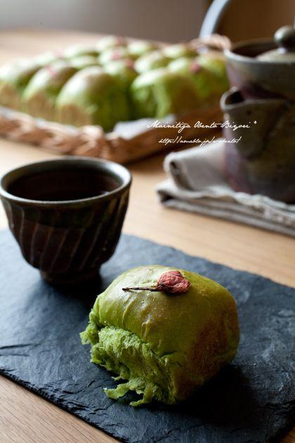 HB★お抹茶桜ちぎりあんぱん。 |あ~るママオフィシャルブログ「毎日がお弁当日和♪」Powered by Ameba
