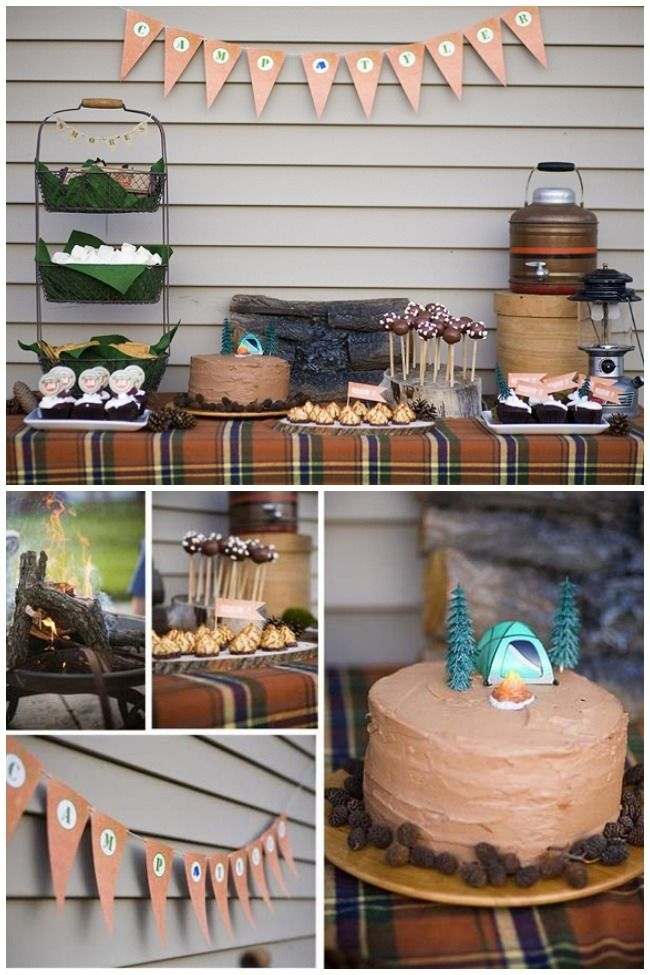 Boys Camping Themed Birthday Party Ideas www.spaceshipsandlaserbeams.com