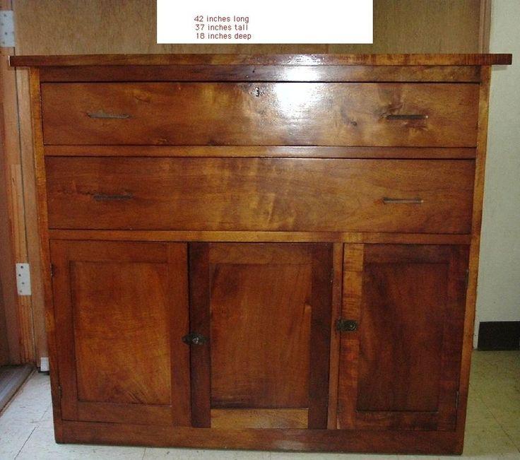 Details about antique koa wood cabinet hawaii hawaiian ...