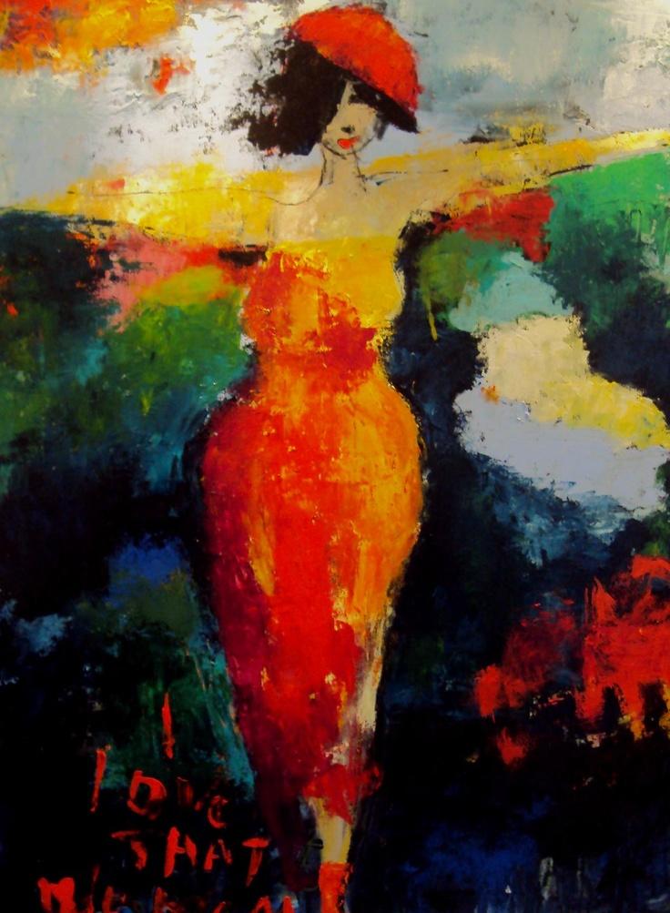 En skøn kvinde hos Galleri Zobbe Kunst i Salling