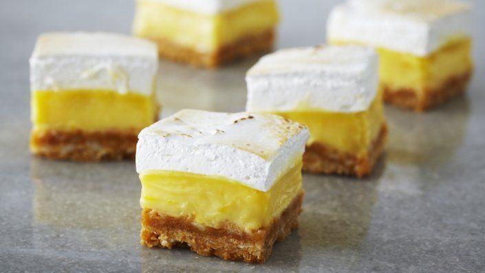 Photo of Lemon Marshmallow Squares. I would use the egg whites for meringue, not powder.