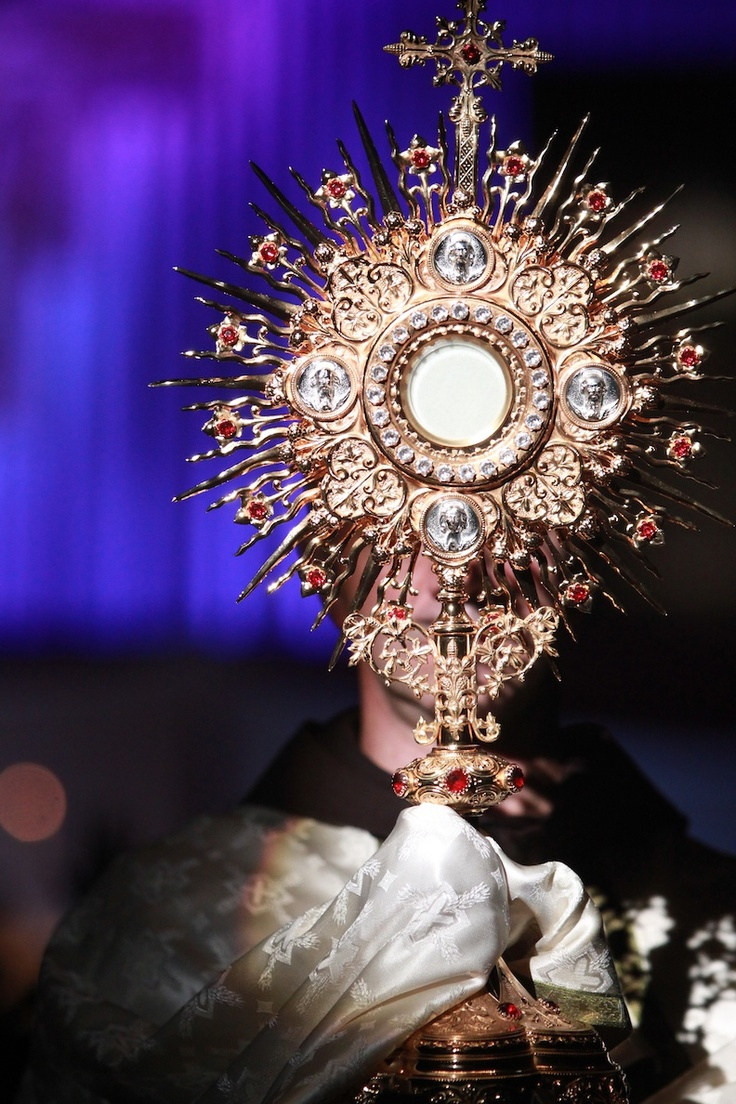 Eucharistic Procession during one of the campus youth conferences