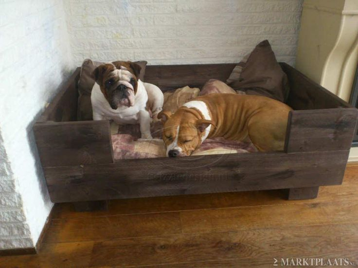 Another great diy wooden dog bed.