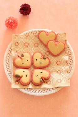 「アップルハートクッキー」kaiko | お菓子・パンのレシピや作り方【corecle*コレクル】