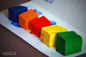 Esponjas arco iris