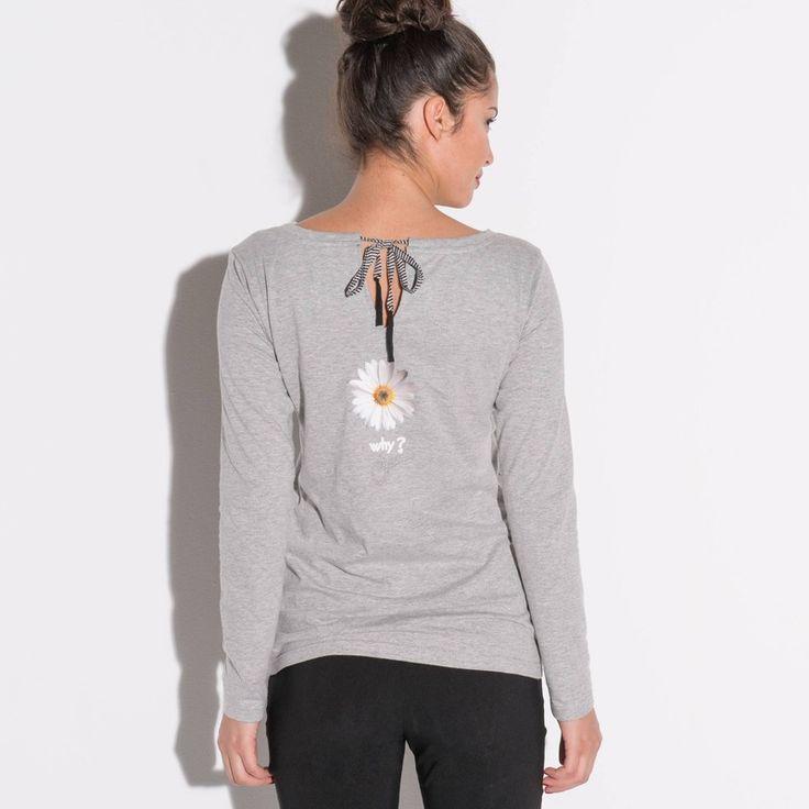 T-shirt sequins et satin col rond manches longues femme DESIGUAL