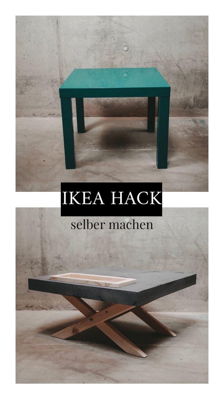 IKEA LACK TISCH HACK upcycling zum beton Tisch