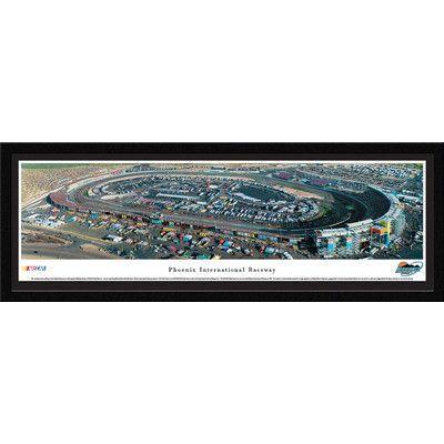 BlakewayPanoramas NASCAR Phoenix International Raceway by James Blakeway Framed Photographic Print