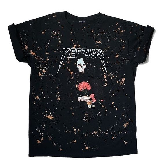 Yeezus tour bleach splattered t-shirt Purchased from vintage bleach website brand new never worn sold out on website this is not Brandy Melville, only for visibility lower on merc no trades Brandy Melville Other