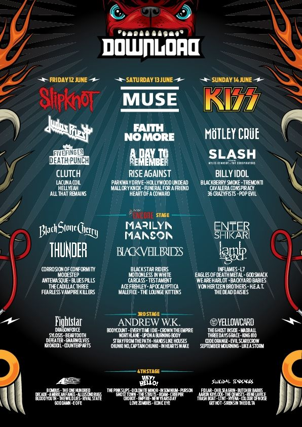 Poster | Download Festival 2015 cant wait to go to this :D
