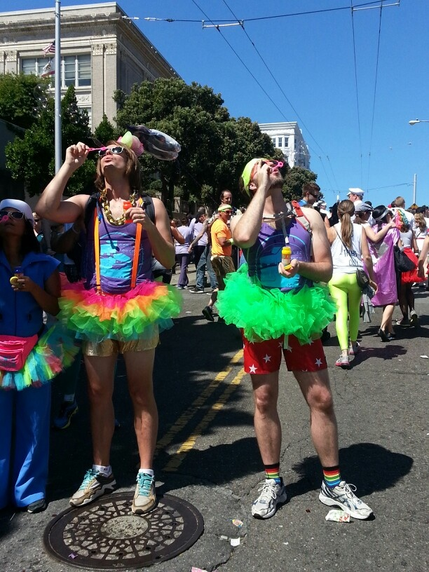 Nabila-last sunday I went to sf to bay to breakers. In my country you won't see this kind of crazy people in the streets.it was funny
