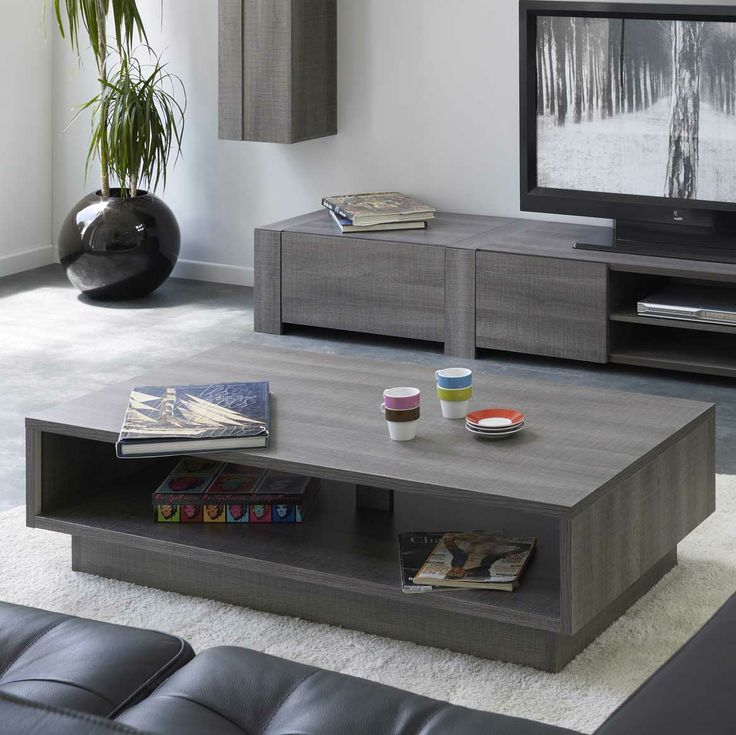 17 best images about table basse on pinterest villas habitats and the white - Table salon rectangulaire ...