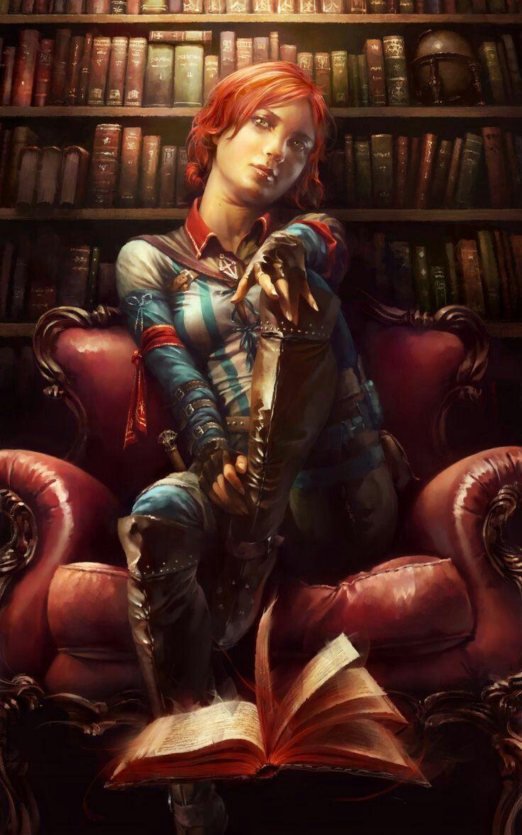 f Wizard Library hilvl urban magic books Character Portraits