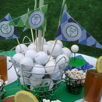 39 best images about golf party on pinterest ryder cup for Golf centerpiece ideas