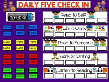 DAILY 5 CHECK IN SMARTBOARD FREEBIE - PUMPKIN THEME - TeachersPayTeachers.com