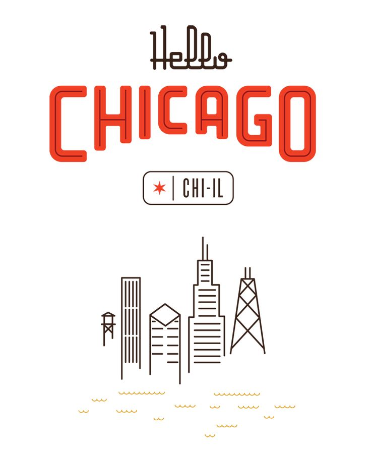 Map of Chicago designed for Herb Lester by Mike McQuade #typography