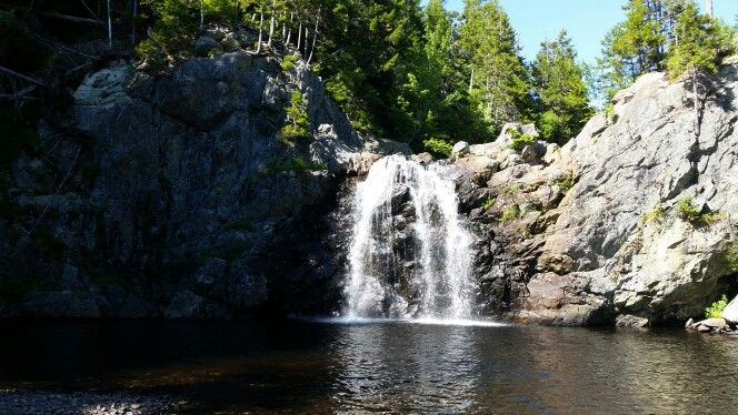 Wallace falls, first large set of falls on quiddy river. Near Waterford outside Sussex NB