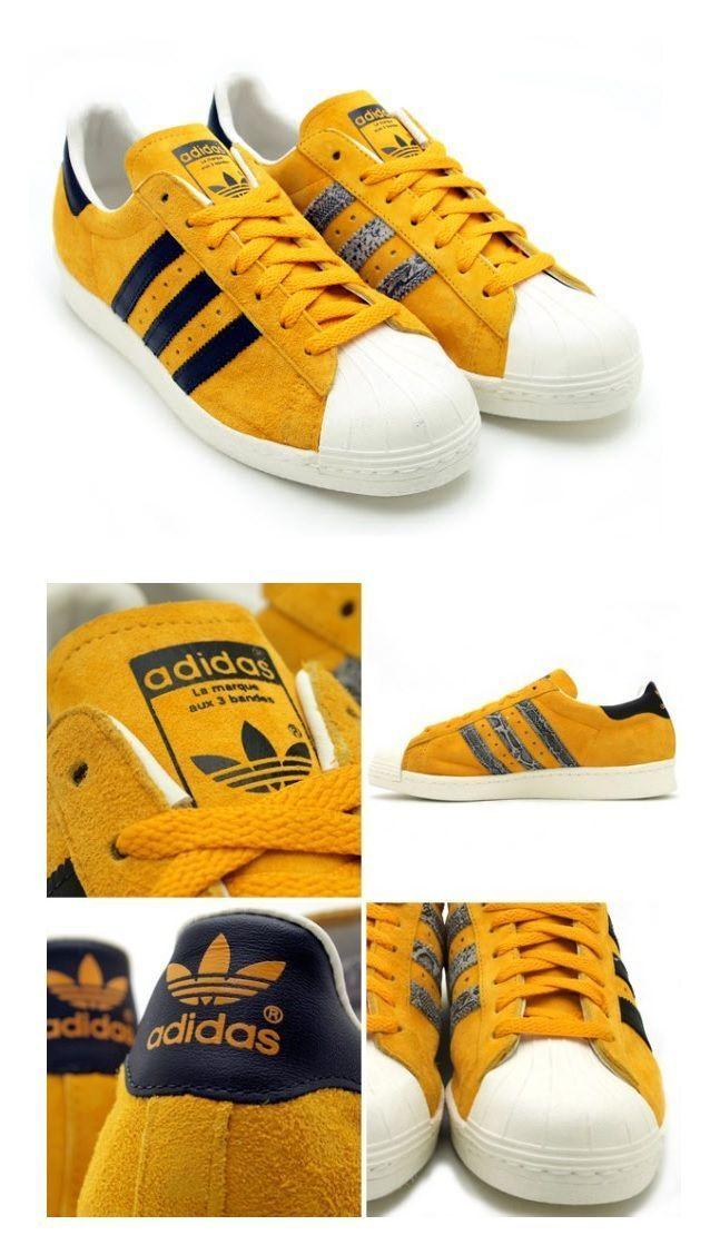 newest c3da5 073d6 adidas Superstar 80s  Mustard