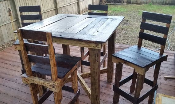 Pallet bar table. really awesome Etsy listing at https