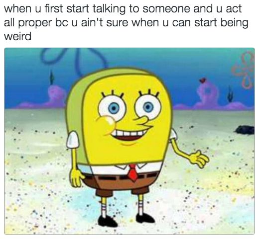 "On being awkward: | 19 Hilarious ""SpongeBob"" Memes That Are Never Not Funny"