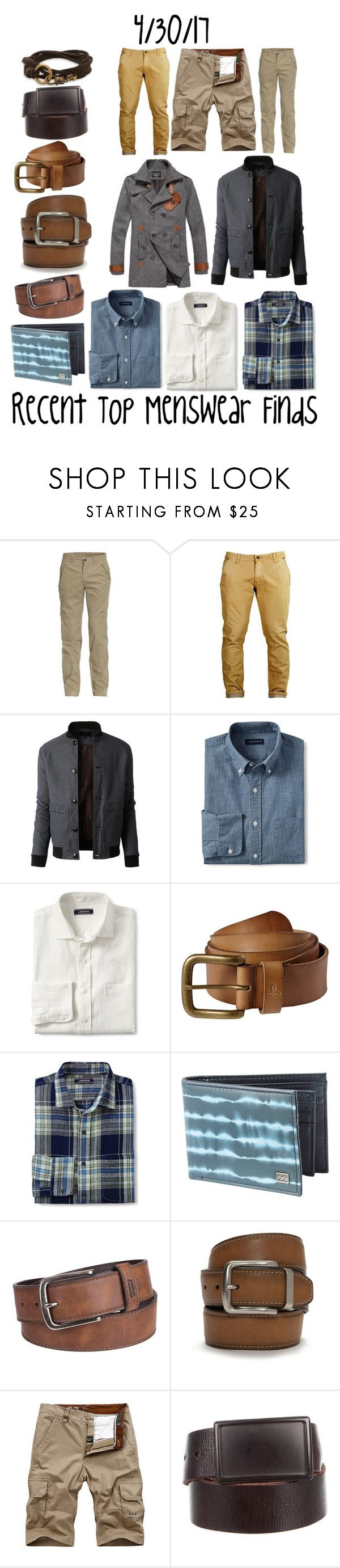 """""""Recent Top Menswear Finds"""" by maggie-johnston ❤ liked on Polyvore featuring Jeep, LE3NO, Paltò, Lands' End, prAna, Billabong, Levi's, Columbia, John Varvatos * U.S.A. and men's fashion"""