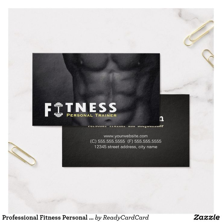 121 best Business Cards: Fitness images on Pinterest | Business ...