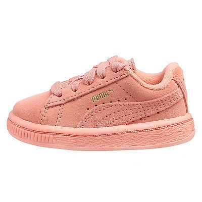 Puma Suede Kids Toddler 353636-29 Desert Flower Pink Girls Td Shoes Baby Size 6